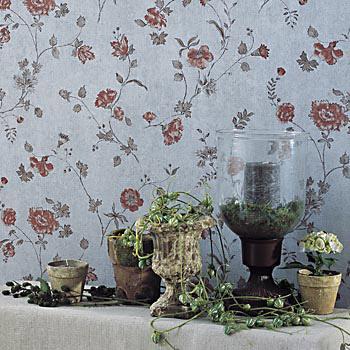 Papel pintado estampados florales el rinc n de sonia - Papeles pintados paisajes ...