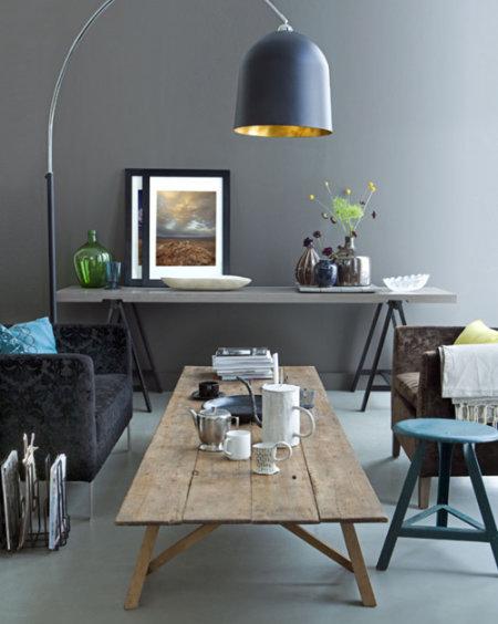 Gama de grises para tus paredes el rinc n de sonia - Paredes grises y muebles marrones ...