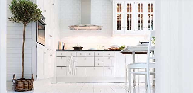 Cocinas blancas orden y luz el rinc n de sonia for Cocinas clasicas pequenas