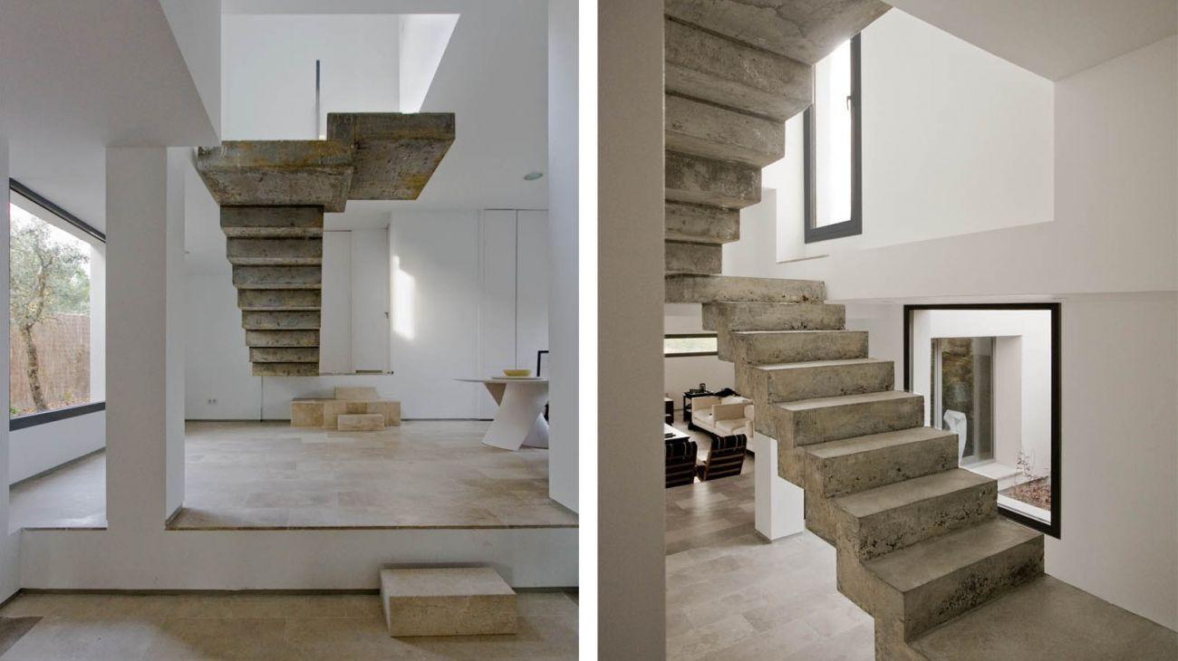 La piedra caliza porosa y elegante el rinc n de sonia for Escalera de hormigon con descanso