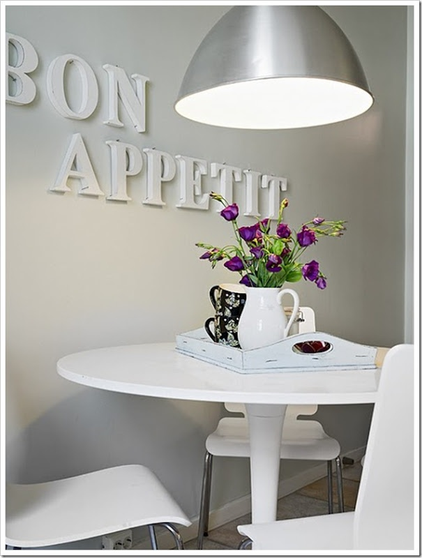 Ideas para decorar y personalizar con letras tus espacios for Guardas decorativas para cocina