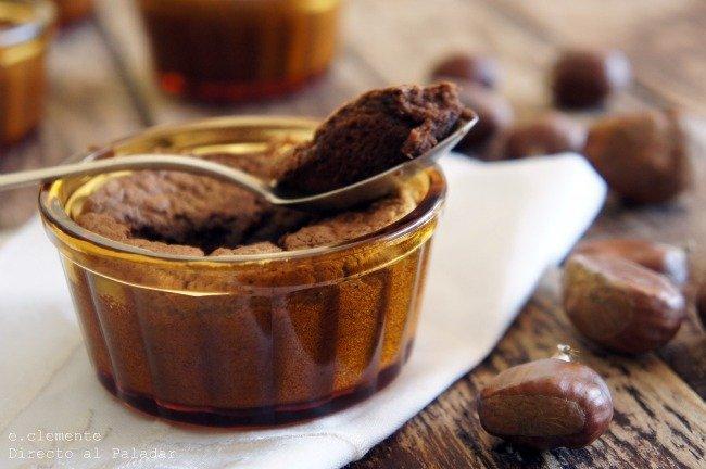 cazuelitas de choco y crema de castañas