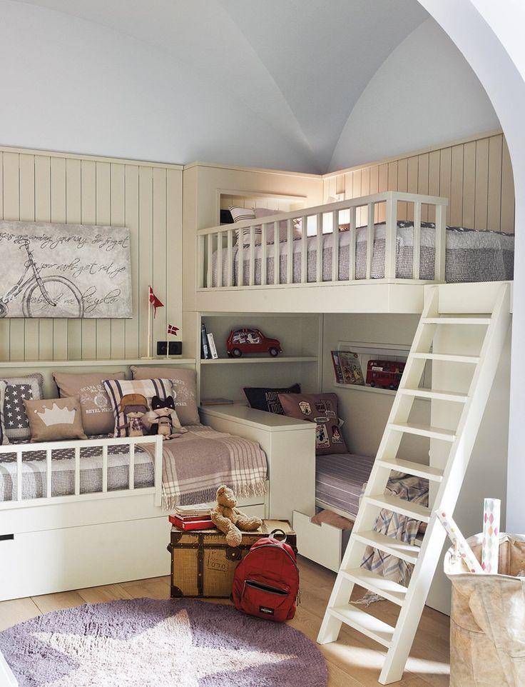 Dormitorio pequeño para tres niños: un gran dormitorio para tres ...