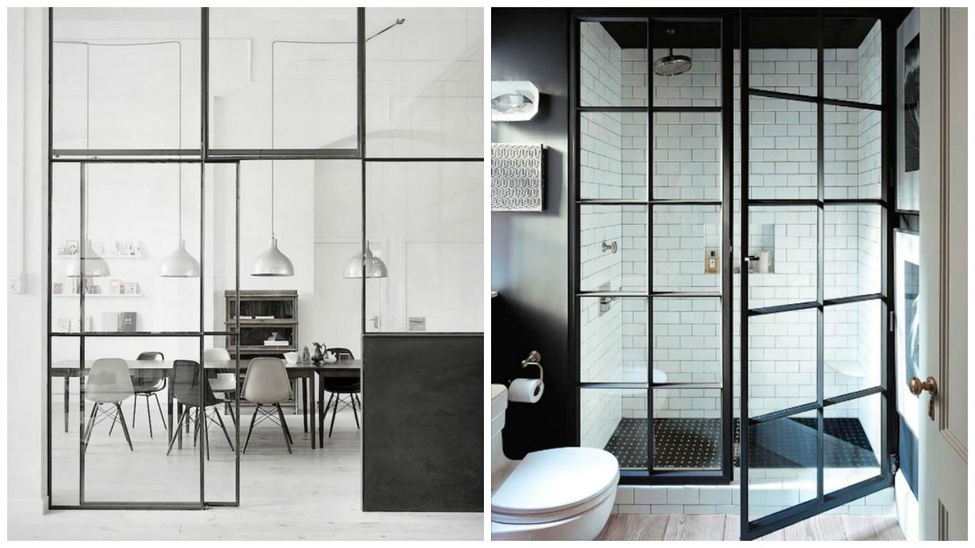 Separar ambientes con estructuras de metal y vidrio el for Separar ambientes