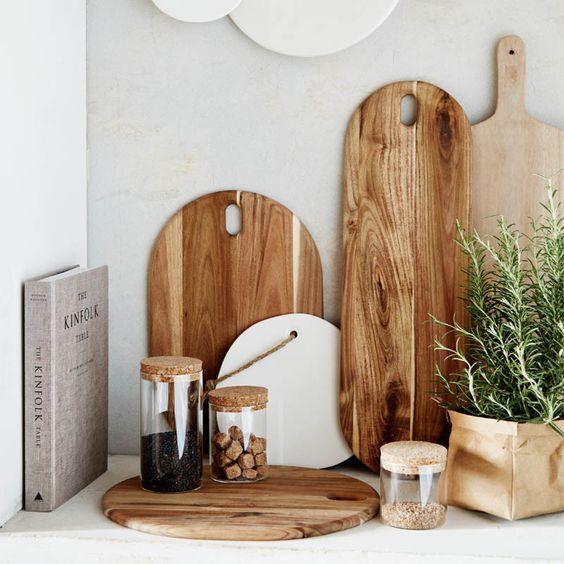 Tablas de madera para decorar trabajar y servir el - Decorar tabla madera ...
