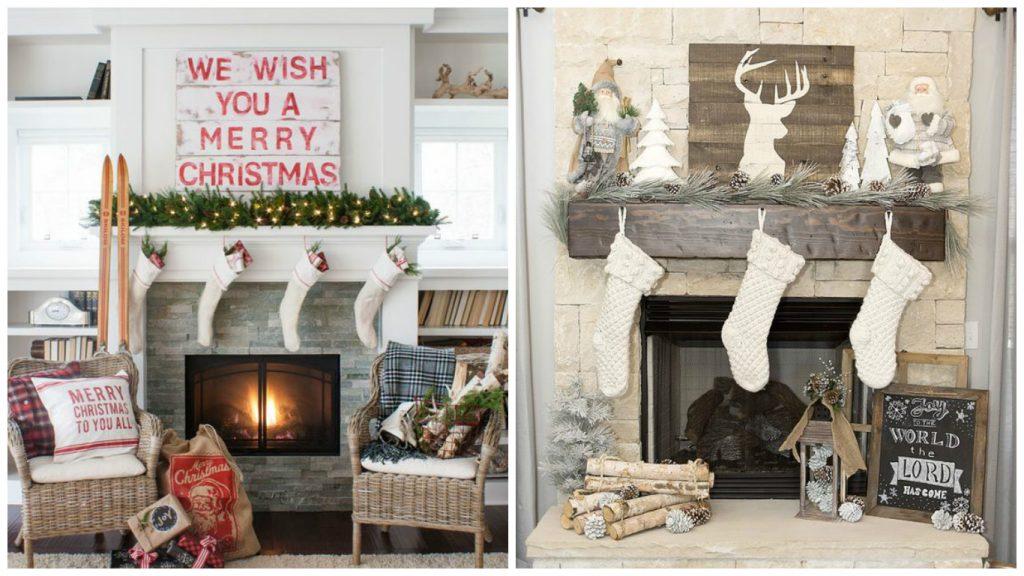 ideas para decorar tu chimenea en navidad