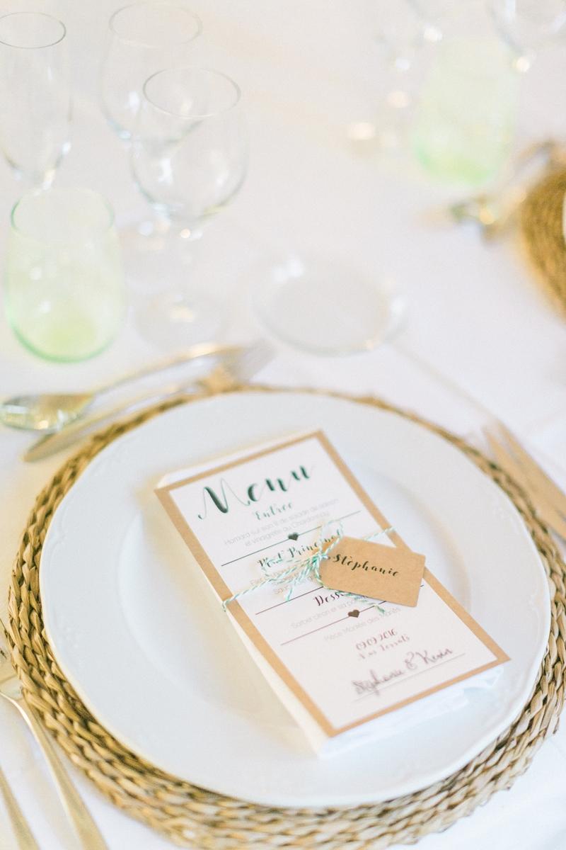 decoración sencilla para la mesa