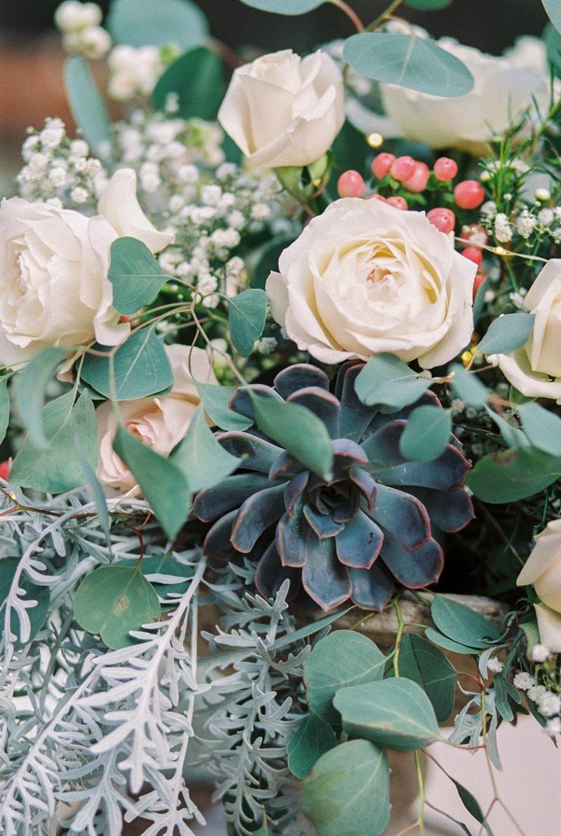 Arreglos florales tonos verdes y suaves