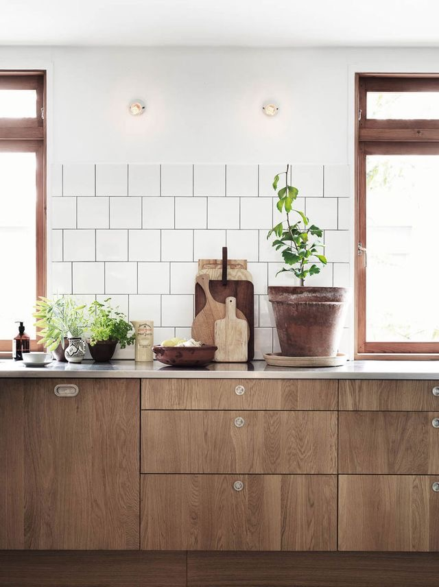 Cocina de madera natural
