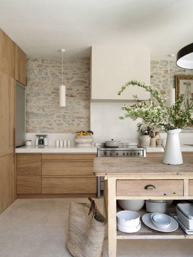 Cocina de madera clásica