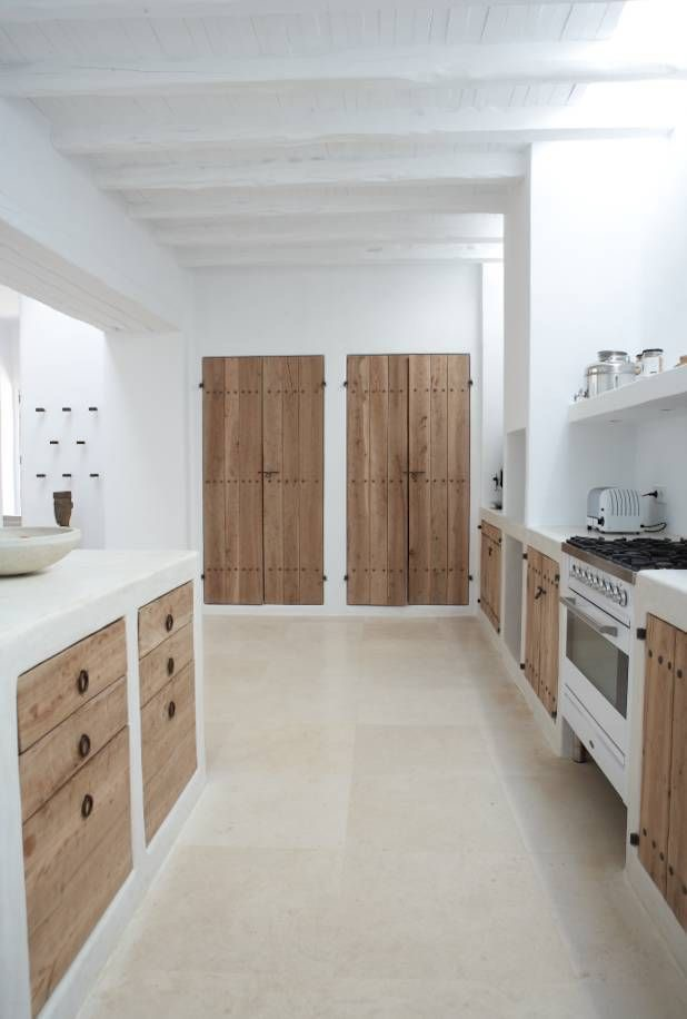 Cocina de madera shabby chic