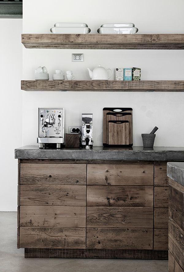 Cocina de madera rústica